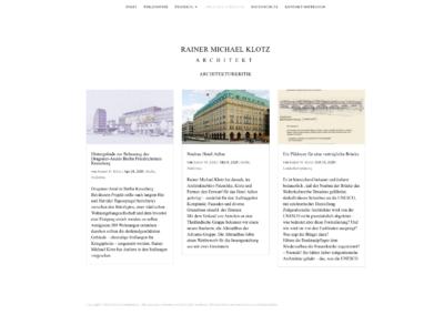 Michael Klotz -Freier Architekt Berlin